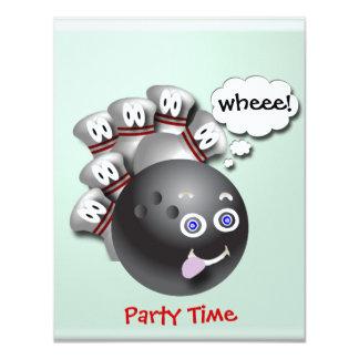 "Bowling Party Invitations Customizable 4.25"" X 5.5"" Invitation Card"