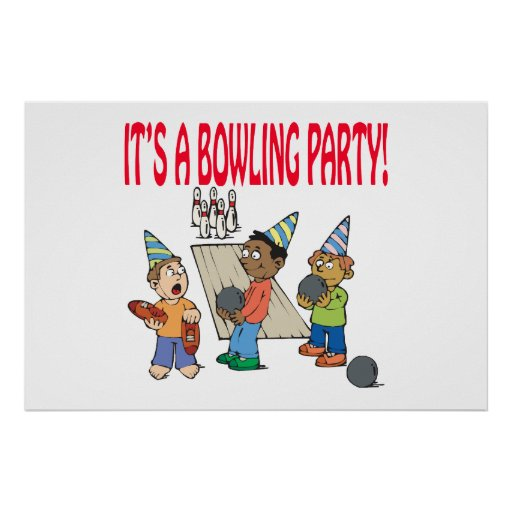 Bowling Party Print