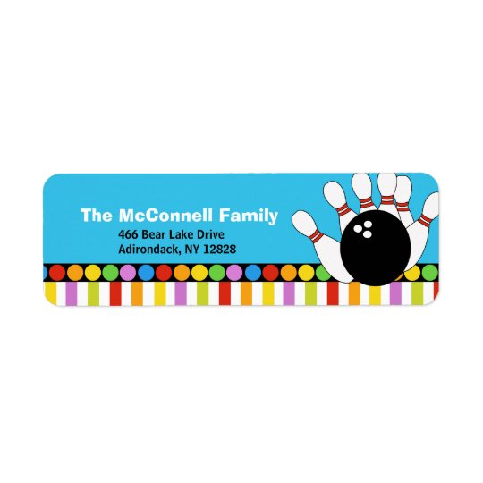 Bowling Party PRINTABLE ADDRESS LABELS