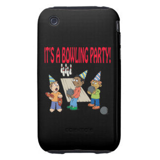 Bowling Party Tough iPhone 3 Cover