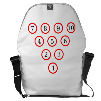 Bowling Pin Diagram Messenger Bag