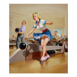 Bowling Pin Up Poster