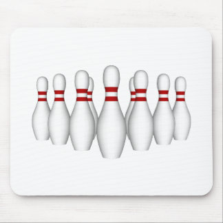 Bowling Pins: 3D Model: Mouse Pad