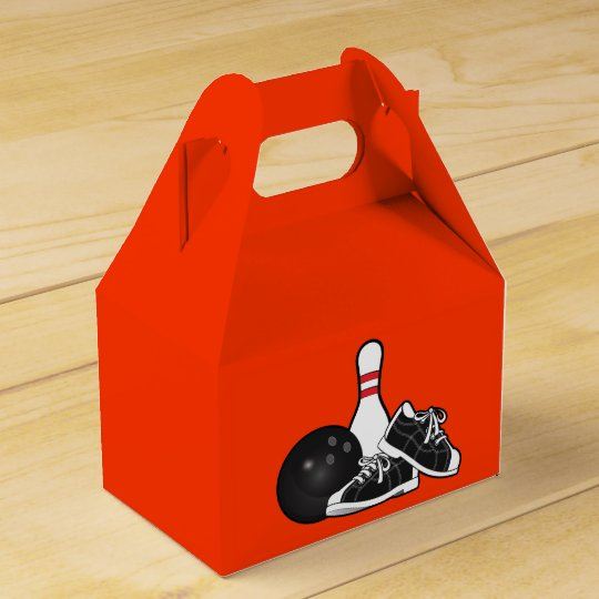Bowling Pins and Ball Favour Box