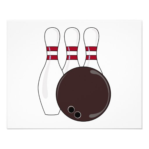 bowling pins and ball vector design flyers