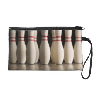 Bowling Pins Wristlet Clutch