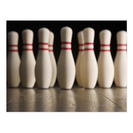 Bowling Pins Post Cards