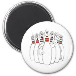 Bowling Pins Refrigerator Magnet