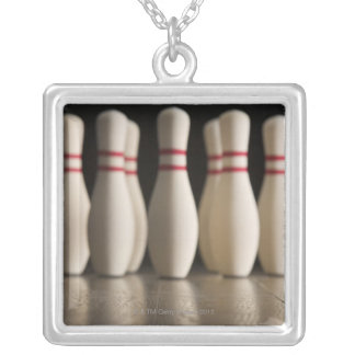 Bowling Pins Silver Plated Necklace