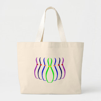 Bowling Pins T-shirts and Gifts. Large Tote Bag