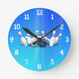 Bowling Pins: Wall Clock