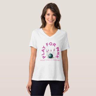 Bowling Play for Breast Cancer Awareness Shirt