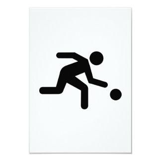 Bowling player 9 cm x 13 cm invitation card