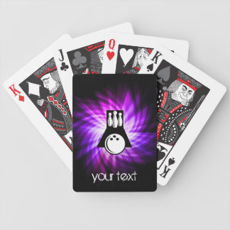 Bowling; Purple Bicycle Playing Cards