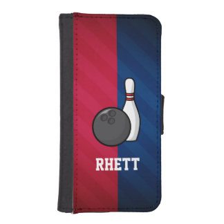 Bowling; Red, White, and Blue iPhone SE/5/5s Wallet Case