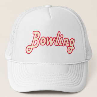 Bowling retro trucker hat