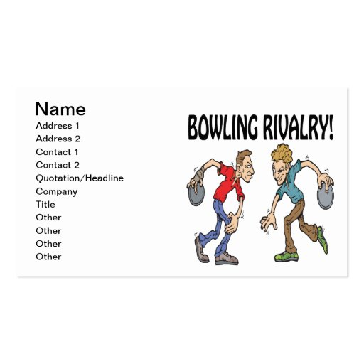 Bowling Rivalry Business Cards