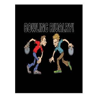 Bowling Rivalry Postcard