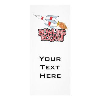bowling rocks pin rocket customised rack card
