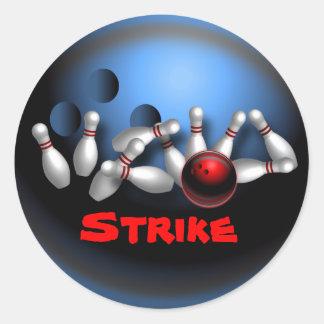 Bowling Round Sticker