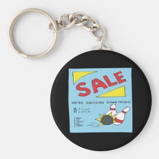 Bowling Sale Basic Round Button Key Ring