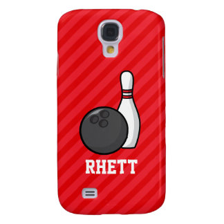 Bowling; Scarlet Red Stripes Galaxy S4 Case