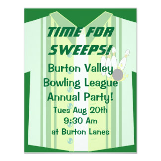 Bowling Shirt Party Invite