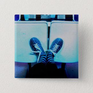 bowling shoes 15 cm square badge