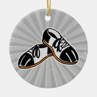 bowling shoes cartoon graphic christmas ornament