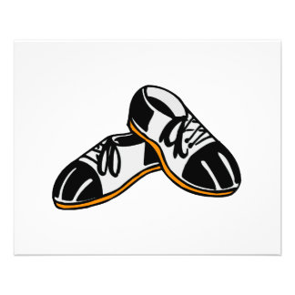 bowling shoes cartoon graphic 11.5 cm x 14 cm flyer