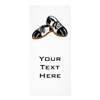 bowling shoes cartoon graphic personalized rack card