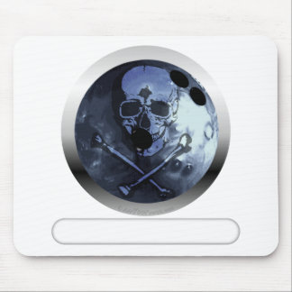 Bowling Skull and Crossbones Mouse Pad
