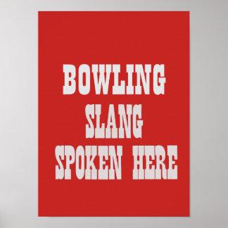 Bowling slang poster