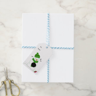 Bowling Snowman Gift Tags