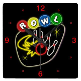 Bowling Square Clock