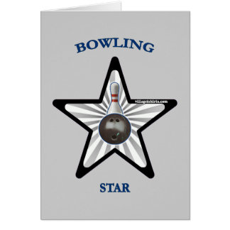 Bowling Star Stationery Note Card
