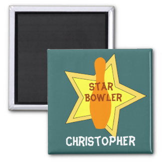 Bowling Star Personalized Magnet