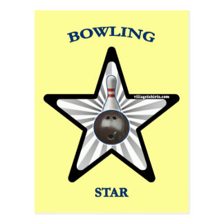 Bowling Star Post Cards