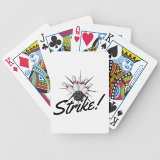 bowling strike! bicycle playing cards