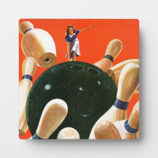 Bowling Strike Display Plaque