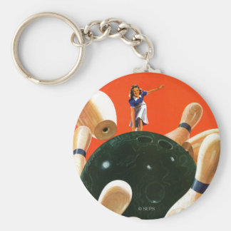 Bowling Strike Key Ring