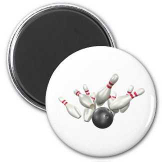 Bowling Strike Refrigerator Magnet