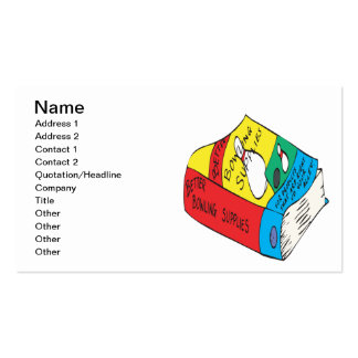 Bowling Supplies Pack Of Standard Business Cards