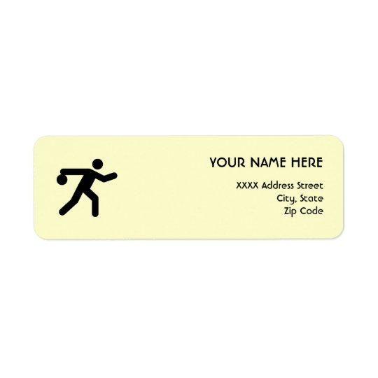 Bowling Symbol Return Address Label