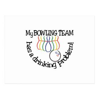 Bowling Team Postcard