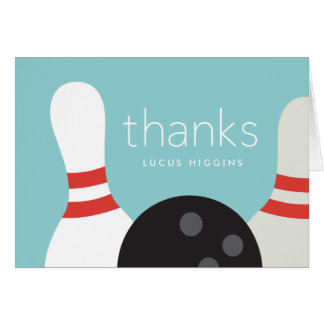 Bowling thank you notecard