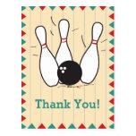 Bowling Thank You Postcard