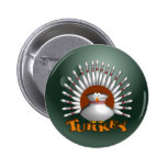 Bowling Turkey 6 Cm Round Badge