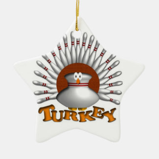Bowling turkey christmas ornament