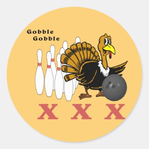 Bowling Turkey XXX Stickers